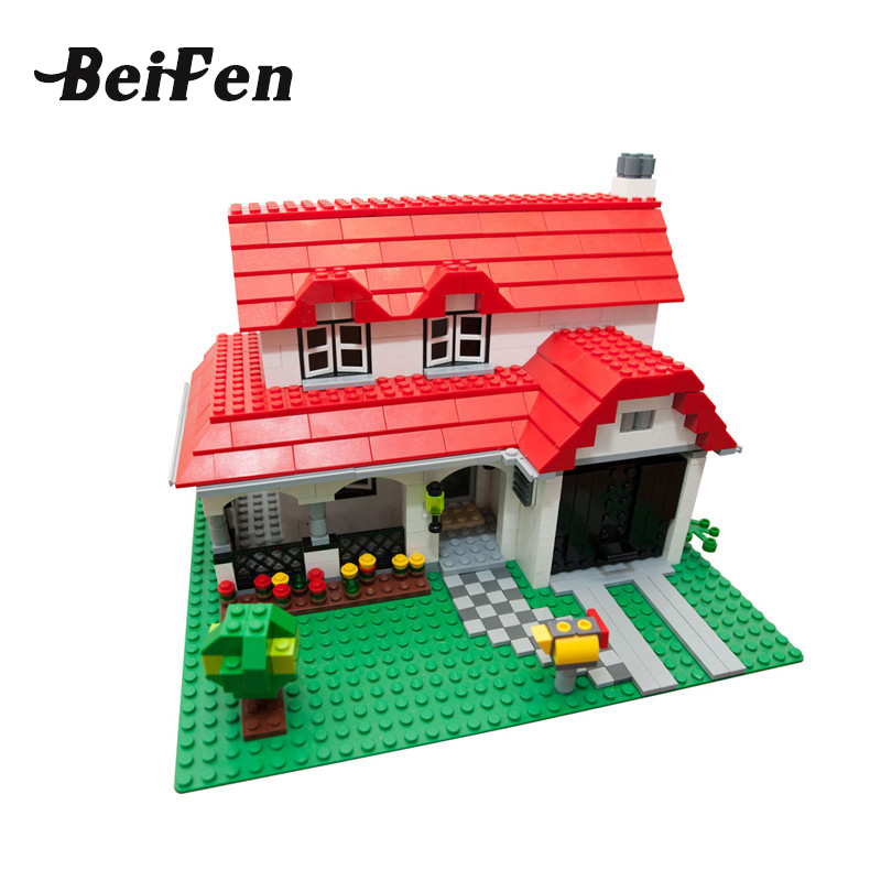 lepine Building Blocks Bricks the American Style House DIY Set Children Toys Compatible LegoINGlys Christmas Gift Lepine 24027 kazi 608pcs pirates armada flagship building blocks brinquedos caribbean warship sets the black pearl compatible with bricks