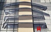 Dış Pencere Visor Vent Gölge Yağmur/Güneş/Rüzgar Guard Kapak Trim 4 adet IÇIN BMW X3 F25 2011 2012 2013 2014 2015