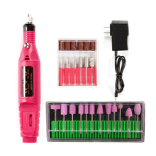 цена на Electric Apparatus For Manicure Pedicure Machine 12Pcs Nail Polishing Grinding Drill Bits Cutter Set Nail Art Milling Drills Set