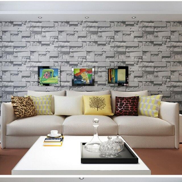 3D Ziegel Tapete wandtapete geprägten backsteintapete wohnzimmer ...