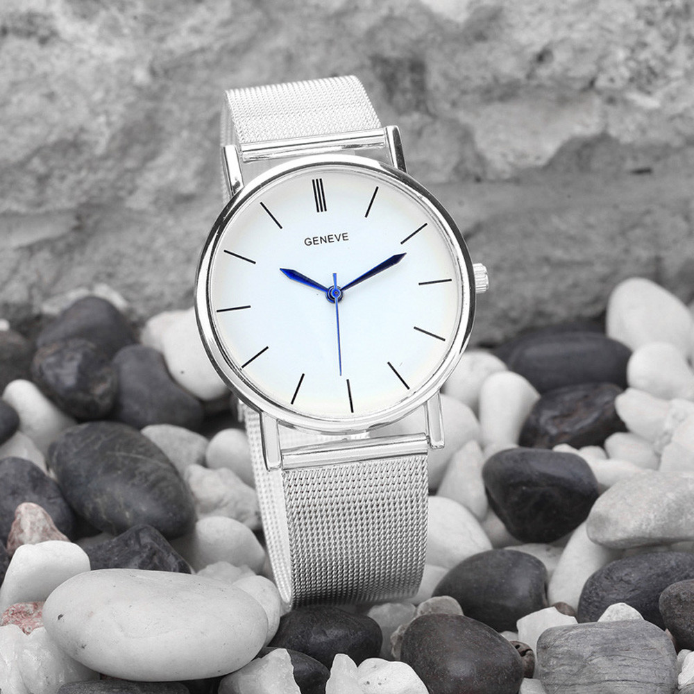 Famous Brand Silver Casual Quartz Watch Women Mesh Stainless Steel Material Dress Women Watches Relogio Feminino Clock 2016 new famous brand silver watch women casual quartz clock women metal mesh stainless steel dress watches relogio feminino