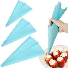 "1pcs Portable 13"" Reusable Silicone Icing Piping Cream Pastry Bag Cake DIY Decorating Tool hot search(China)"