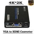 HD VGA для HDMI Конвертер 4 К 1080 P Скейлер AV Video Audio Адаптер Для HDTV PC