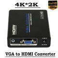 Hd vga a hdmi convertidor 4 k 1080 p scaler av video audio adaptador para hdtv pc