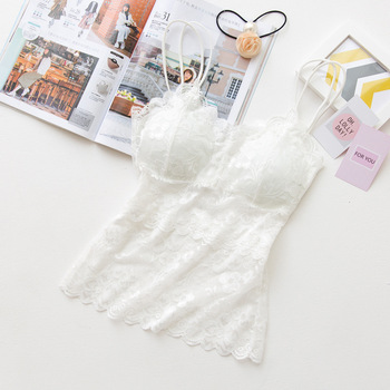 Lace tops women Brassiere lace with shoulder strap