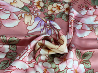 Silk fabric silk satin garment quilt cover pillowcase cloth leather foundation peony 16mm