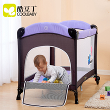 20178new design baby game bed protable newborn bed double layer send changing table and toys