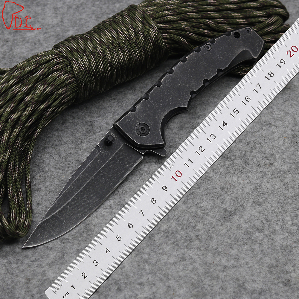 Dcbear New DA78 Folding font b Knife b font 440C Steel High Performance font b Knives