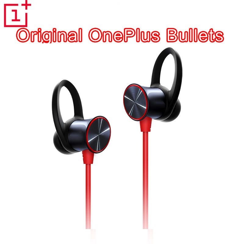 Original Oneplus Bullets Wireless Earphones Free Your Music Magnetic Mic Control Fast Charge Support aptXTM Red