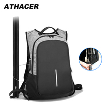 Athacer Anti-theft Backpack For Men Waterproof Laptop Bag Tr