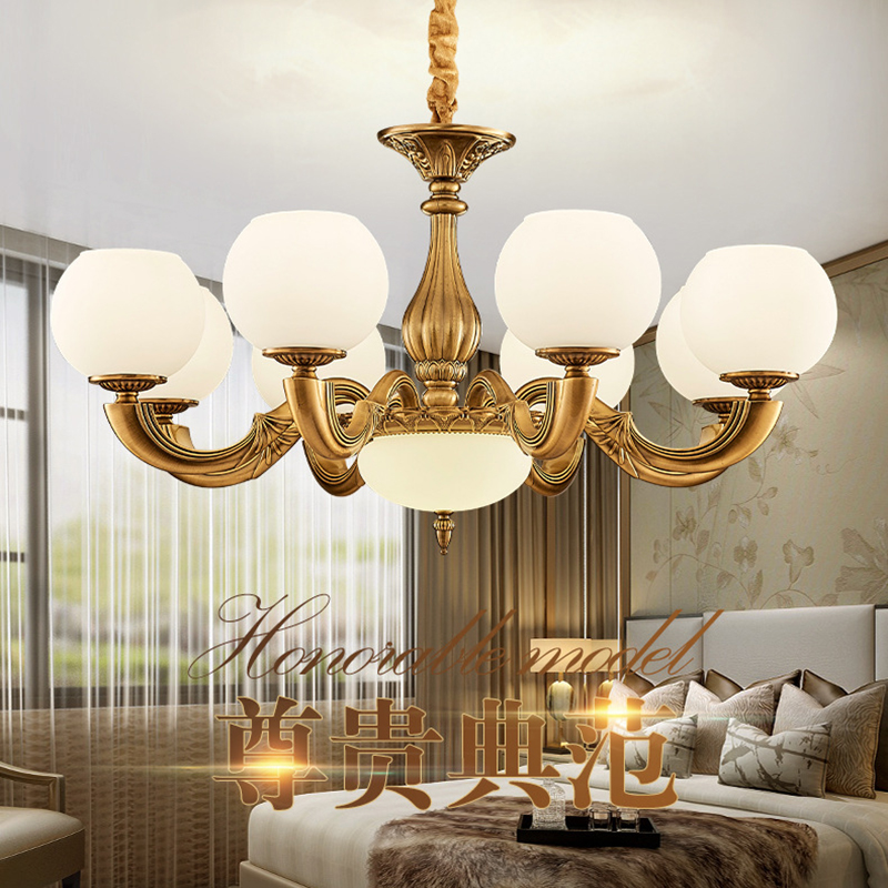Us 250 0 Nordic European Modern Glass Pendant Lights Vintage Lamp Living Room Lamp Bedroom All Copper Color Led Kitchen Lights Fixtures In Pendant