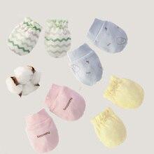 4 модели модные детские анти царапины перчатки защита на Кроватку Новорожденного лица Хлопок царапины варежки