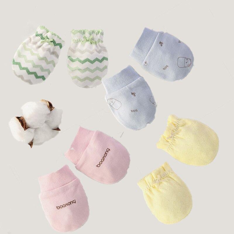 Expressief 4 Patronen Fashion Baby Anti Krabben Handschoenen Pasgeboren Bescherming Gezicht Katoen Scratch Wanten Aantrekkelijke Ontwerpen;