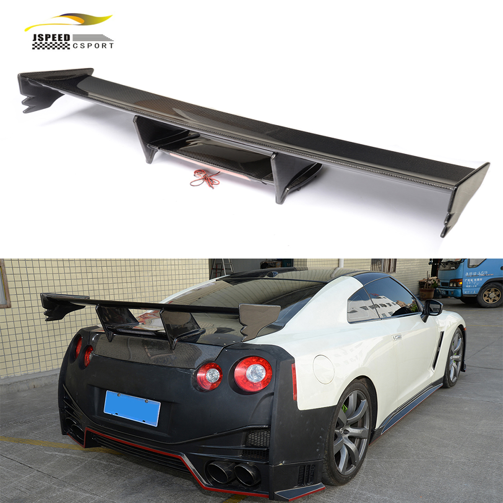 Popular spoiler nissan buy cheap spoiler nissan lots from china carbon rear spoiler lip wing car styling for for nissan gt r 2009 2015 vanachro Choice Image
