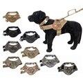 Tactical Dog Training Vest Nylon Adjustable Patrol Dog Harness Service Dog Vest on Sides for ID Patch