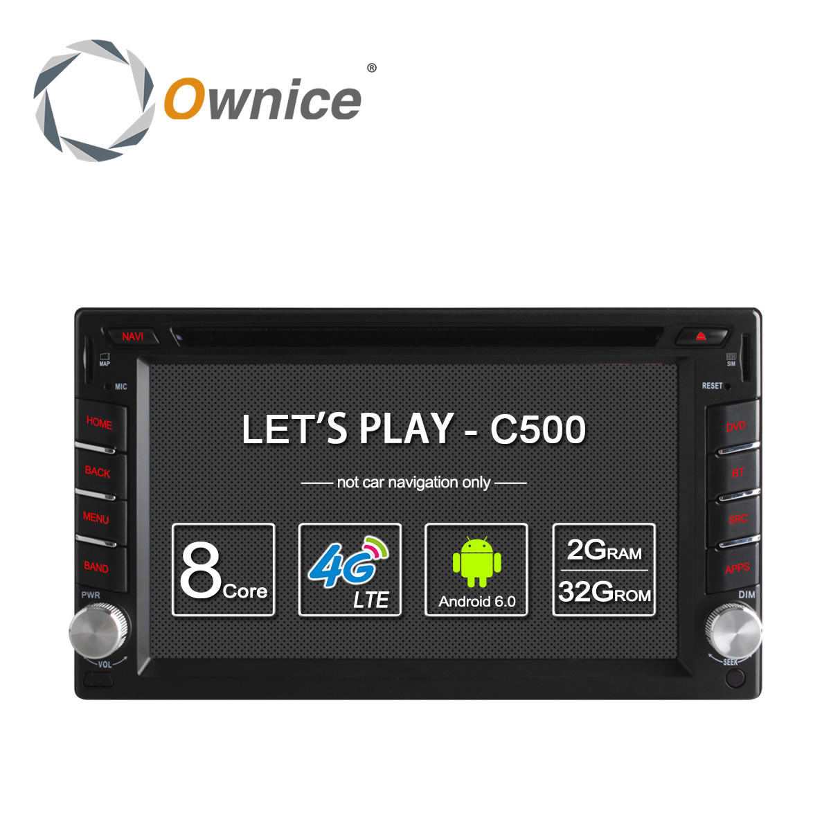 Ownice C500 Universal 2 Din Android 6 0 Quad Core Car DVD Player GPS Wifi Bluetooth
