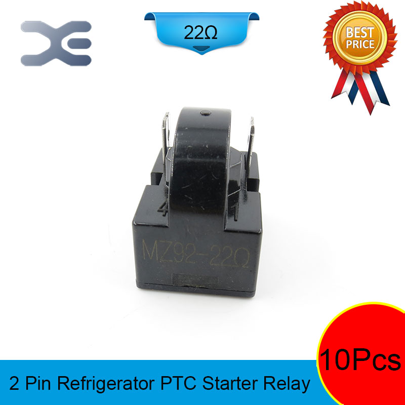 цена на 10PCS 2PIN MZ92-22OHM Starter Relay PTC Refrigerator Spare Parts Display Refrigerator Starter Relay Accessories Refrigerator