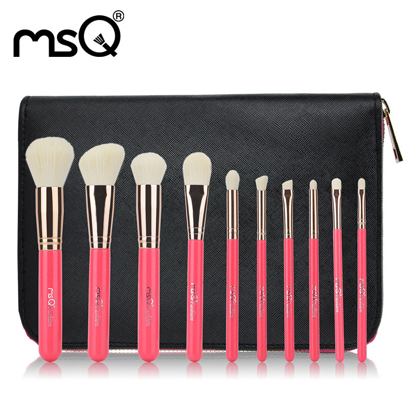 MSQ 10 Pcs Red Makeup Brushes Set Made From Fiber And Wood With a PU Package Portable Cosmetic Brushes Set For Women to Make Up sadat khattab usama abdul raouf and tsutomu kodaki bio ethanol for future from woody biomass