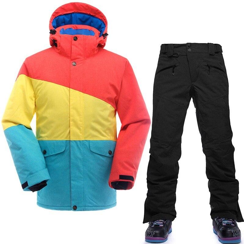 SAENSHING marque Ski costume hommes Ski de montagne costume pour hommes imperméable thermique Snowboard veste + pantalon de Ski respirant hiver neige - 2