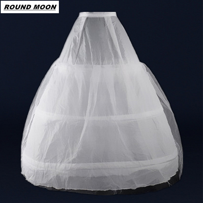 Cheap Wedding formal dress pannier yarn 3 wire 1 hard network Petticoat