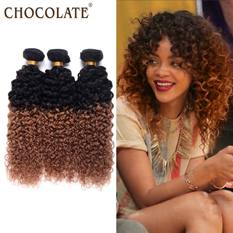 Brazilian kinky curly ombre hair 4 bundles t1b30 natural black brazilian kinky curly ombre hair 4 bundles t1b30 natural black chocolate ombre curly wavy weave afro kinky curly hair bundles in hair weaves from hair pmusecretfo Images