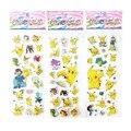 3 unids/lote Pegatinas de Burbuja Pegatinas de Espuma de Dibujos Animados Pikachu Partido Favores para Los Niños Lindo DIY Scrapbook Pegatinas regalo del Niño