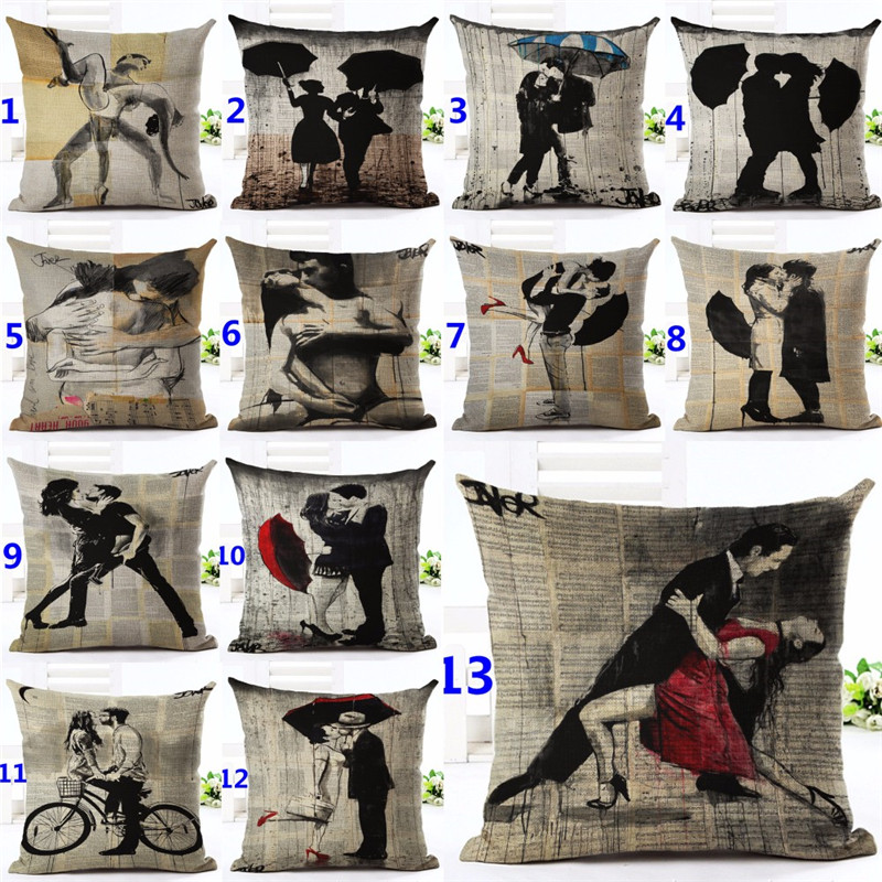Modern British Art Cotton Linen Pillowcase Classical Dancer Cushions Decorative Pillows Home Decor Sofa Throw Pillows Almofadas