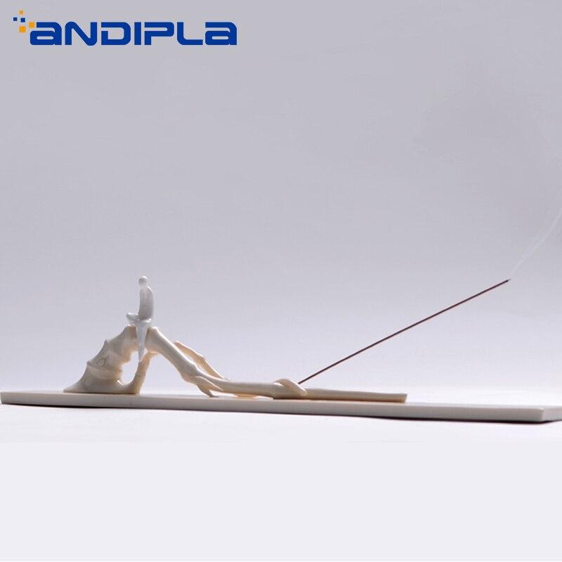 Zen белый фарфор Joss палка благовония горелка ручной работы керамический держатель для благовоний ароматерапия основа орнамент креативный д