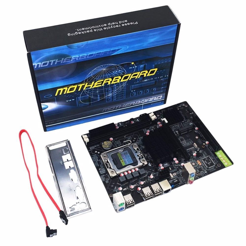 Professional Desktop Computer Mainboard X58 Board LGA 1366 Pin ECC All Solid Motherboard Support L/E5520 X5650 original p6t deluxe v2 x58 1366 support x5650