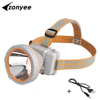 Zonyee 3000 Lumens LED Head Lamp 35W Powerful Waterproof USB Rechargeable Head Light Flashlights Fishing Hunting Light vasos sanitários coloridos