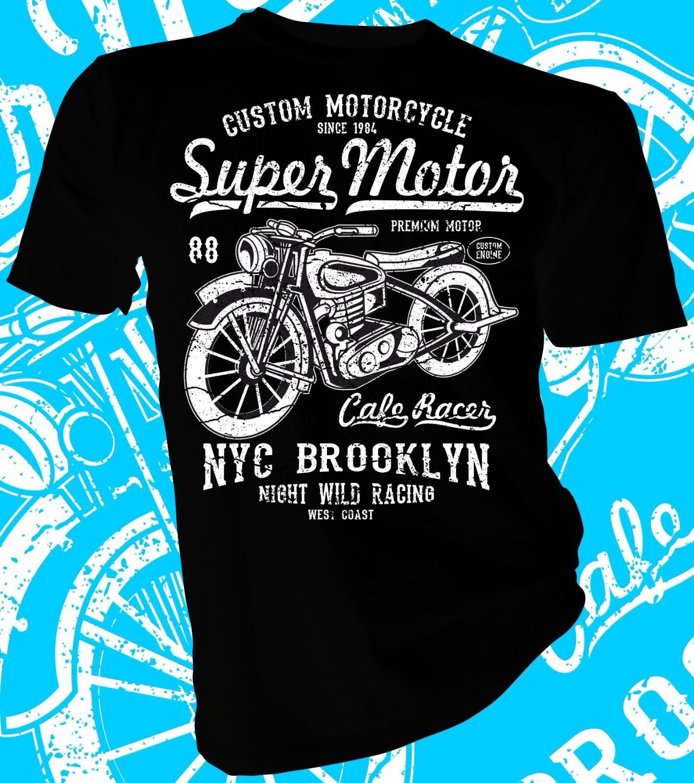 2018 Fashion Hot sale Brooklyn Night Wild Racer, Biker Adult Unisex & Female T-Shirt Tee shirt ...