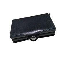 Wholesale Men Business ID Card Holders Genuine Leather Credit Holder Bank Organizer Information Safe Case Gift