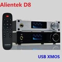 2018 New Alientek D8 Full Digital Audio Headphone Amplifier Input USB XMOS/Coaxial/Optical/AUX 80W*2 24Bit/192KHz DC28V/4.3A