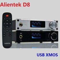 2019 nuevo Alientek D8 completamente digital de Audio de auriculares amplificador de entrada USB XMOS/Coaxial/óptico/AUX 80W * 2 24Bit/192KHz DC28V/4.3A