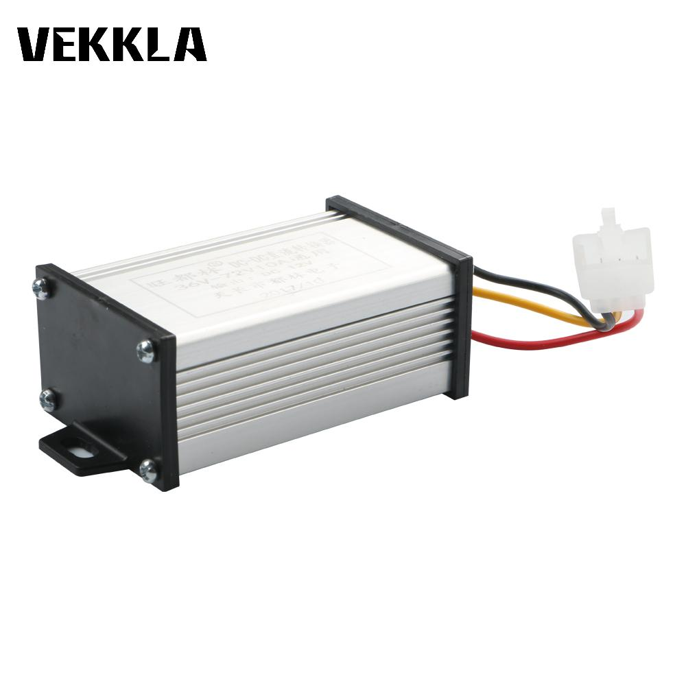 Power Supply DC DC Voltage transformer Converter 36V 48V 60V 72V To 12V DC Adapter Module for Electric Vehicle Battery Converter