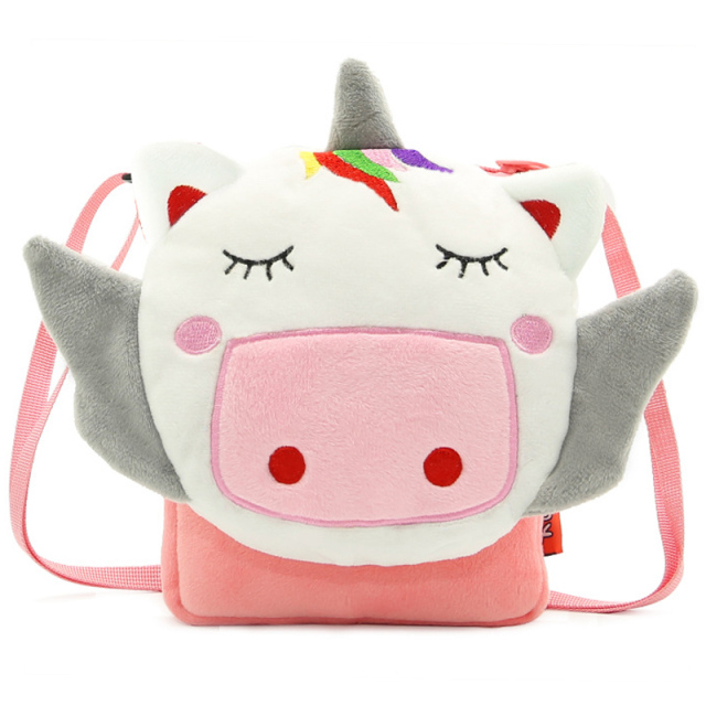 Soft Plush Unicorn Messenger Bag