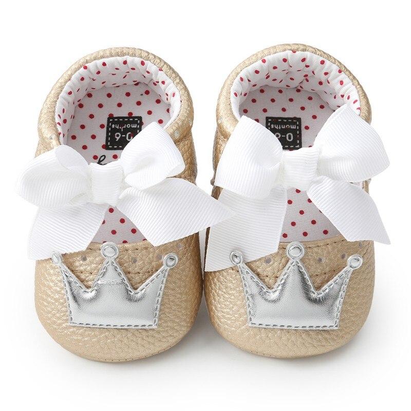 Летняя детская обувь для новорожденных девочек с мягкой подошвой, повседневные хлопковые туфли с короной для принцессы - Цвет: TGS