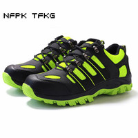Plus Size Men Casual Breathable Mesh Steel Toe Covers Work Safety Shoes Non Slip Platform Anti