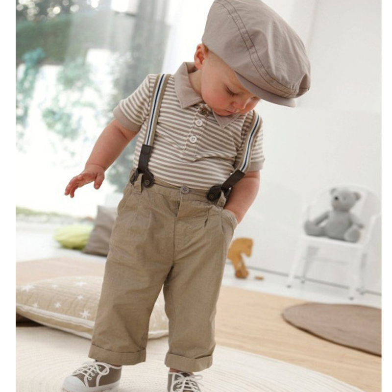 High quality Summer Children's Clothing Set Polo Shirts+Pants+Braces 3Pcs Suit For Boys Handsome Gentleman Soft Cotton Suspender high quality 3 11yrs boys