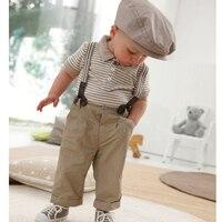 High Quality Summer Children S Clothing Set Polo Shirts Pants Braces 3Pcs Suit For Boys Handsome