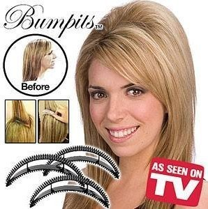 5 pcs Bumpits Big Happie Hair HOLLYWOOD BRUNETTE As Seen On TV