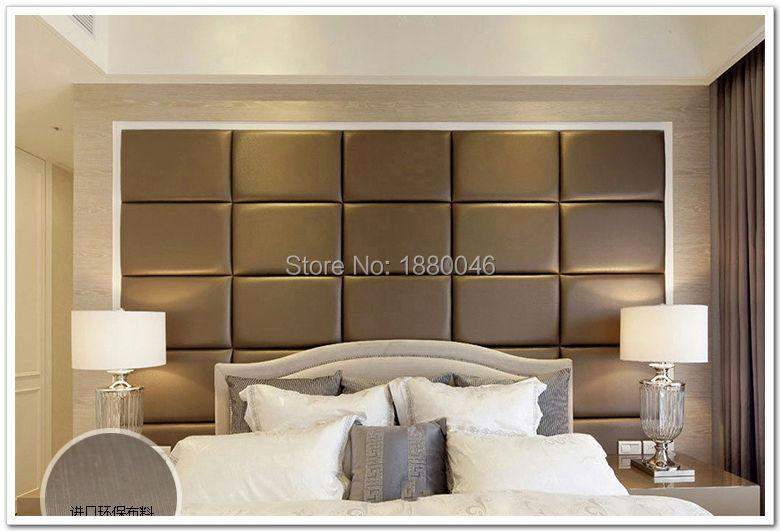 Leather Wall Paneling : Pcs cm custom leather panel pu acoustic