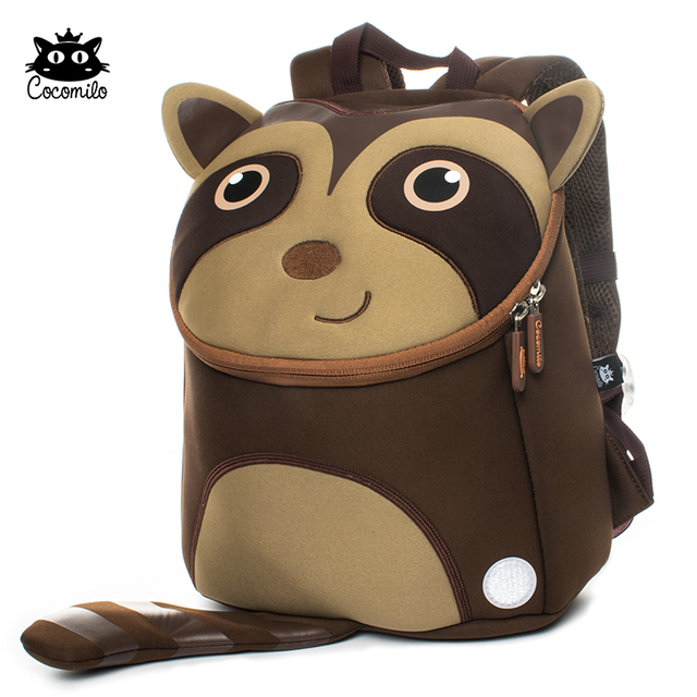 Cocomilo Brand Kids New Waterproof Cute Animal Backpack Kindergarten School  Bags Girls 3D Cartoon Mochila for 2-5 Years Old Boys