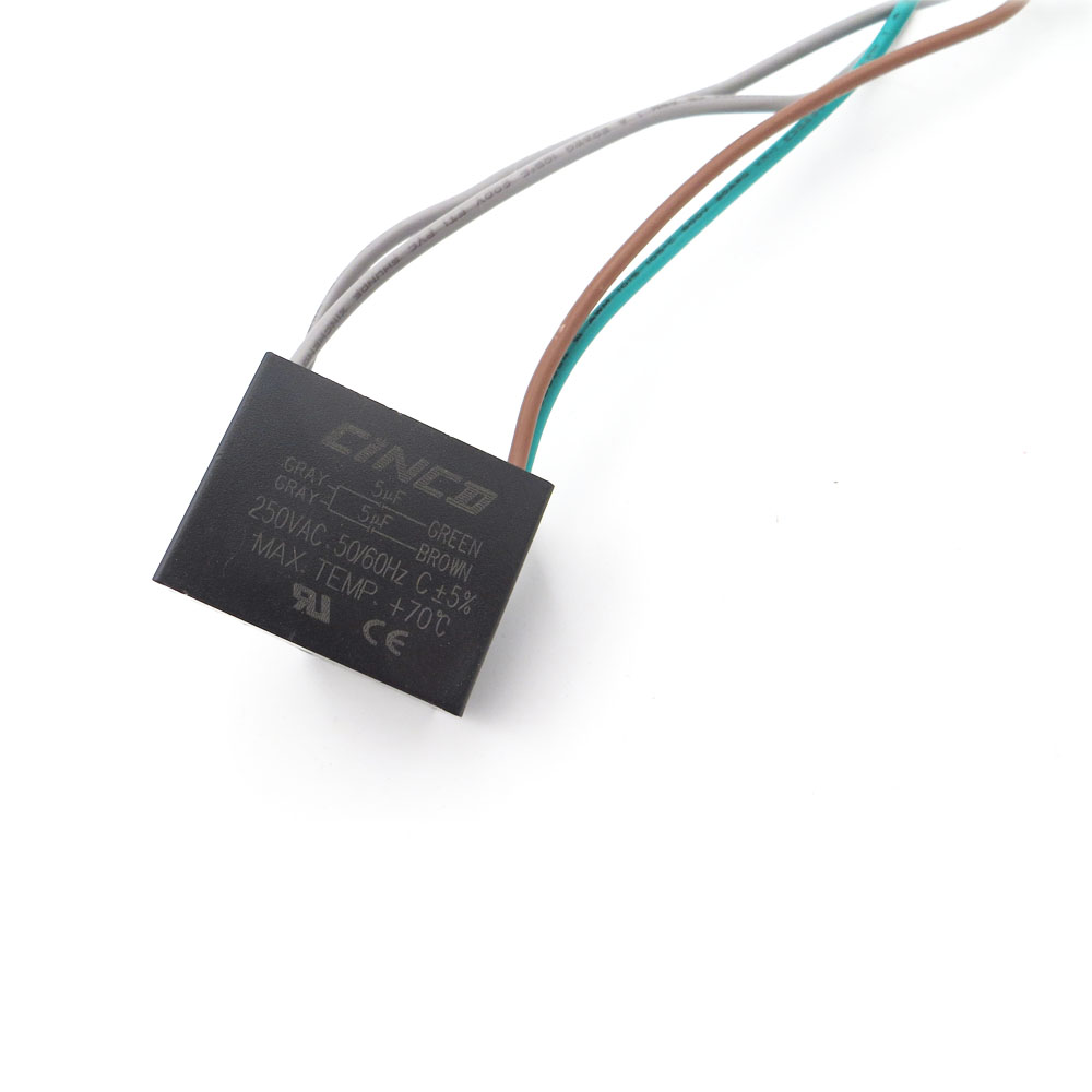 hight resolution of cbb61 5uf 5uf 250v 4 wires motor run capacitor electrical fan 3 4 5 speed electric fanners electronic regulator cable 250vac