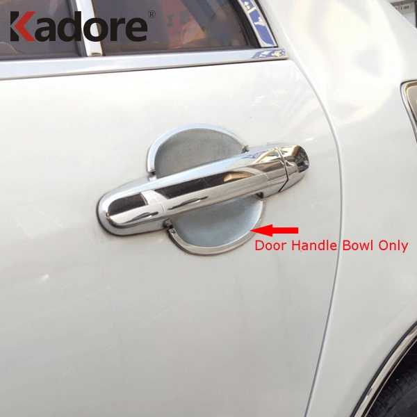 For Toyota RAV4 2006-2012 ABS Chrome Side View Mirror Door Handle Cover Trim