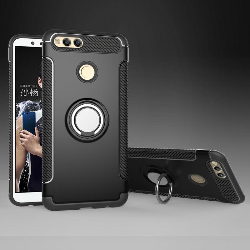 Huawei Honor 7x Case Huawei Phone 5.93'' Ring Car Holder Hard Back cover for Huawei Honor7X Case Funda Honor 7X  7 x Back cover