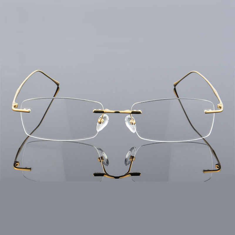 bacb3b2df9 ... Reven Jate 632 Rimless Men Eyeglasses Frame Optical Prescription  Glasses for Man Eyewear Fashion Rimless Spectacles ...