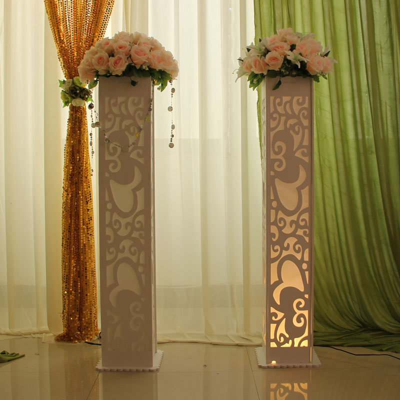 6pcs/lot 115*20*20cm Luxury Wedding Carved Pillar Wedding Road Lead Stand With LED Light Built-In Free shipping6pcs/lot 115*20*20cm Luxury Wedding Carved Pillar Wedding Road Lead Stand With LED Light Built-In Free shipping