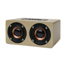 New Wooden HIFI Bluetooth Speaker 10W Dual Loudspeakers Surround Mini Portable Speaker Wood Wireless Computer Speaker for Phone