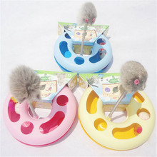 New Creative Pet Kettle Cat Toy Spring Mice Crazy Amusement Disk Multifunctional Disk Play Activity For Cat Funny Gift